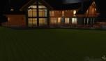 Noční pohled na část s terasou