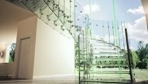 Skleněné schody a schodiště