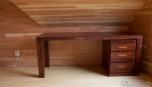 Detail na vnitřní zpracování dřevěných obkladů