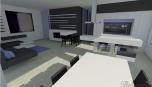 Moderní kuchyně v moderním interiéru