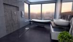 Luxusní koupelna s nádherným výhledem je realizací snů