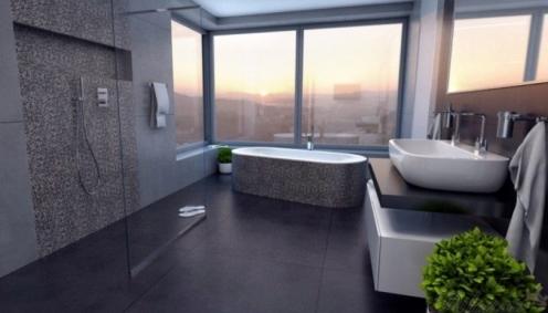 Vizualizace luxusní koupelny