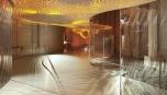 Skleněná stěna Liquidkristal vytváří zajímavé optické obrazy