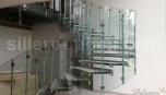 Skleněné schody - montáž
