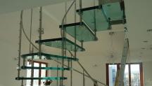 Interiérové skleněné schodiště Siller