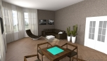 Městský byt - obývací pokoj