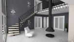Rekonstrukce RD - hala se schodištěm