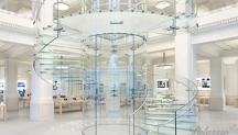 Skleněné schodiště Apple