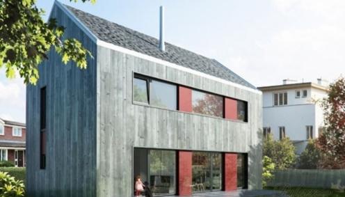 Dům pro rodinu - pohled ze zahrady