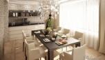 Rekontrukce rodinného sídla - kuchyně v jednom z bytů