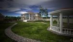 Součástí návrhu domu byl i návrh zahradních staveb