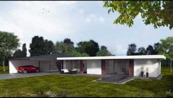 minimalistická vila