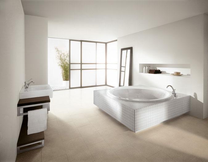 Design koupelny a harmonie dobře působí na naši psychiku