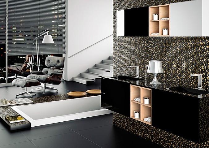 Stylová dlažba Aparici může prostoru dát rovněž styl jednoduchý a ryze pánský