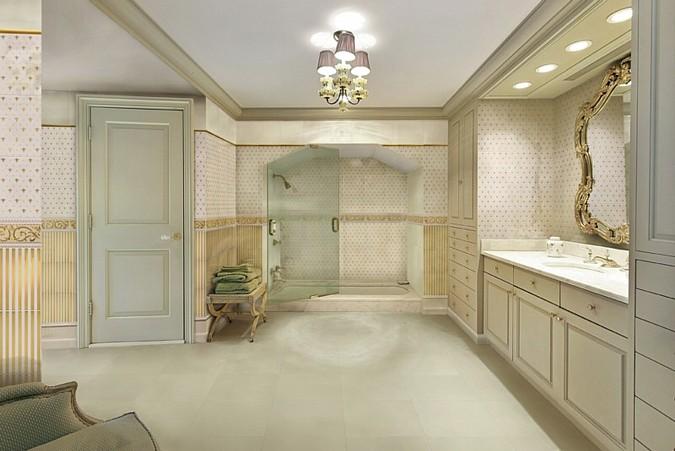 Harmonické barvy a jemný retro styl dodává koupelně model Poeme z kolekce Aparici Ceramic