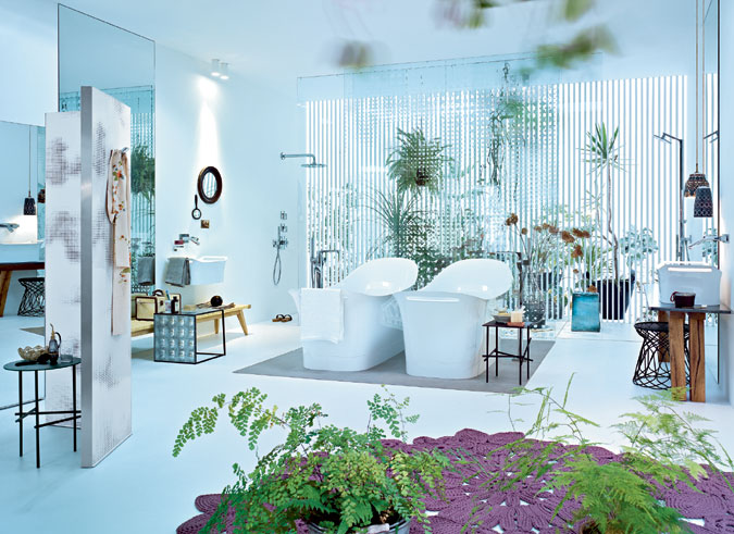 Koupelna s kolekcí Axor Urquiola.
