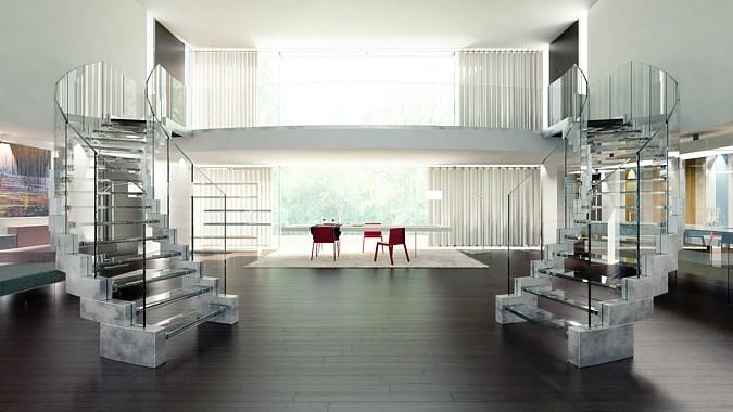 Designové schody Cobra vyrobené firmou Siller