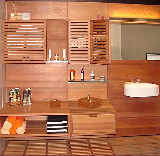 Designové koupelny vyrobené ze dřeva
