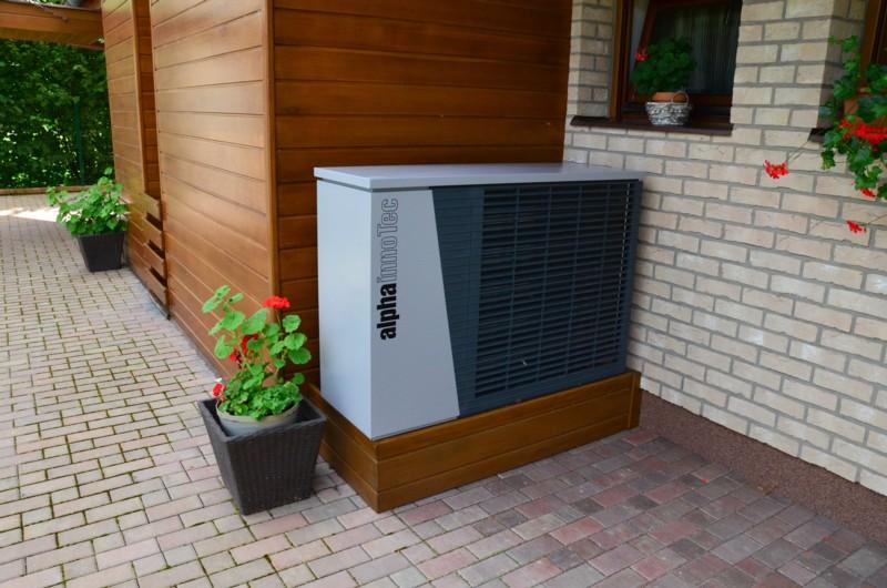 Tepelné čerpadlo je designové a zároveň zabere velmi málo prostoru