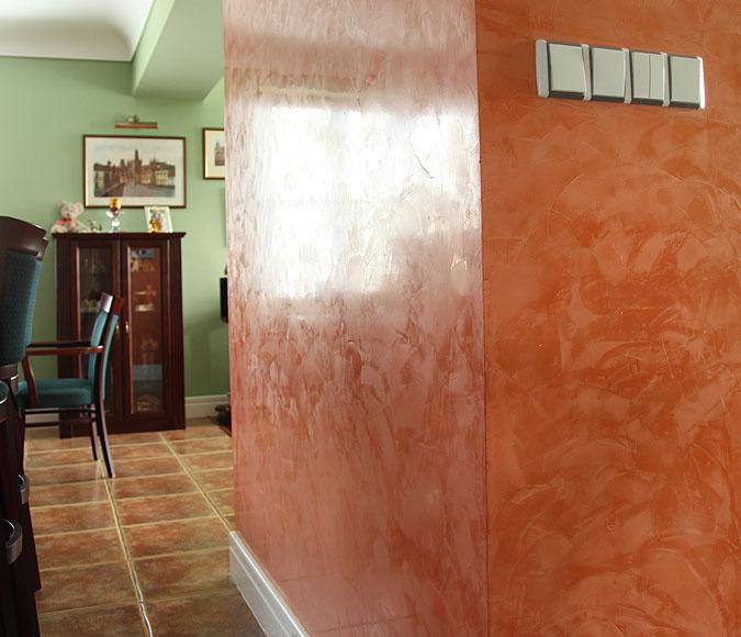 Rekonstrukce povrchu stěny.