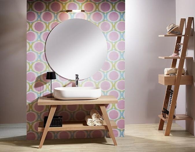 Vkusná a moderní koupelna v jemných pastelových barvách