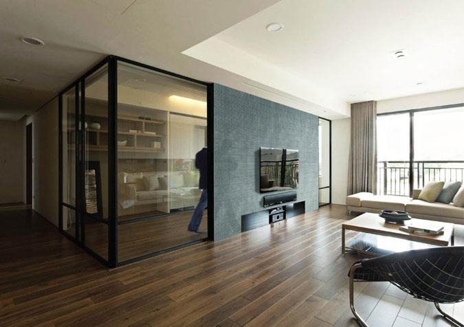 Betonová příčka v interiéru s využitím LiCrete®