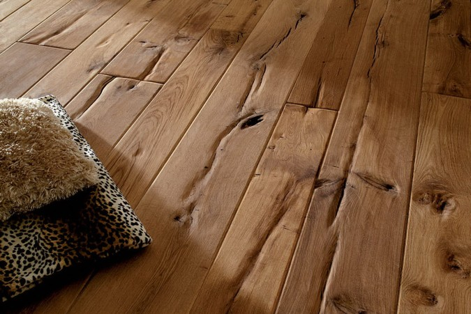 Rustikální podlaha ve venkovském stylu