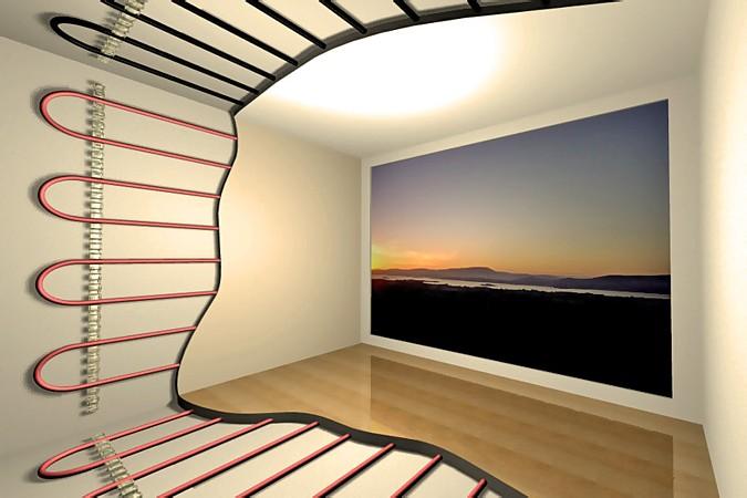 Podlahové vytápění lze položit nejen horizontálně