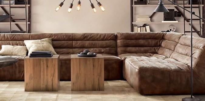 I v moderním interiéru má své místo retro pohovka. Tato kvalitně zpracovaná, zemitě vyhlížející luxusní pohovka například mírní interiér, který by jinak působil velmi ztroze. Pohovka v tomto pokoji vyzívá k relaxaci.