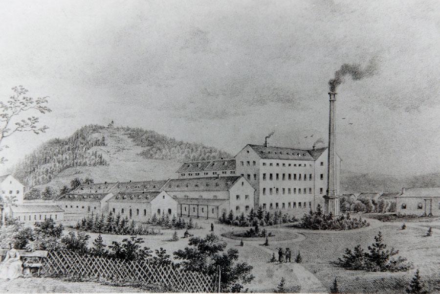 Továrna Ton v Bystřici pod Hostýnem, založená Michaelem Thonetem