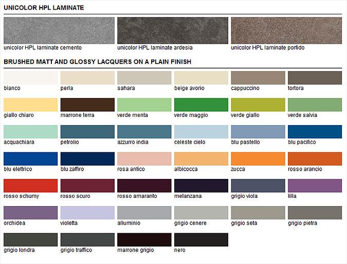 Koupelnový nábytek na míru nabízí mnoho barevných variant.