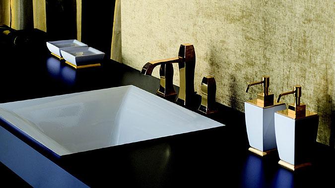 Baterie italského výrobce Gessi.