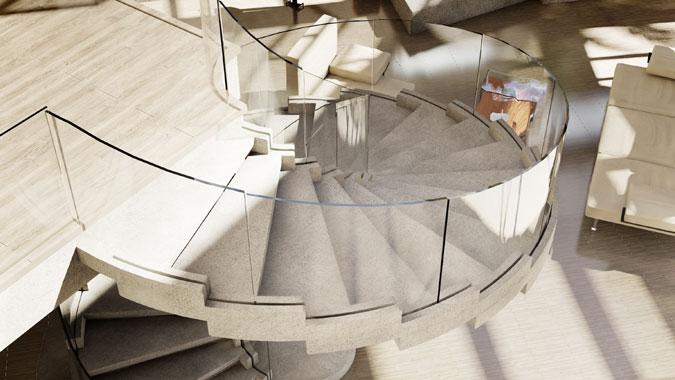 Obliba tohoto modelu spirálového schodiště u architektů vedla k zamyšlení jeho tvůrce na jeho modifikaci pro privátní sektor.