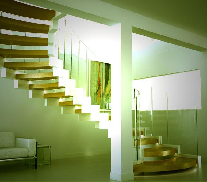 Spirálové schodiště Cobra lze libovolně modifikovat dle vkusu klienta.