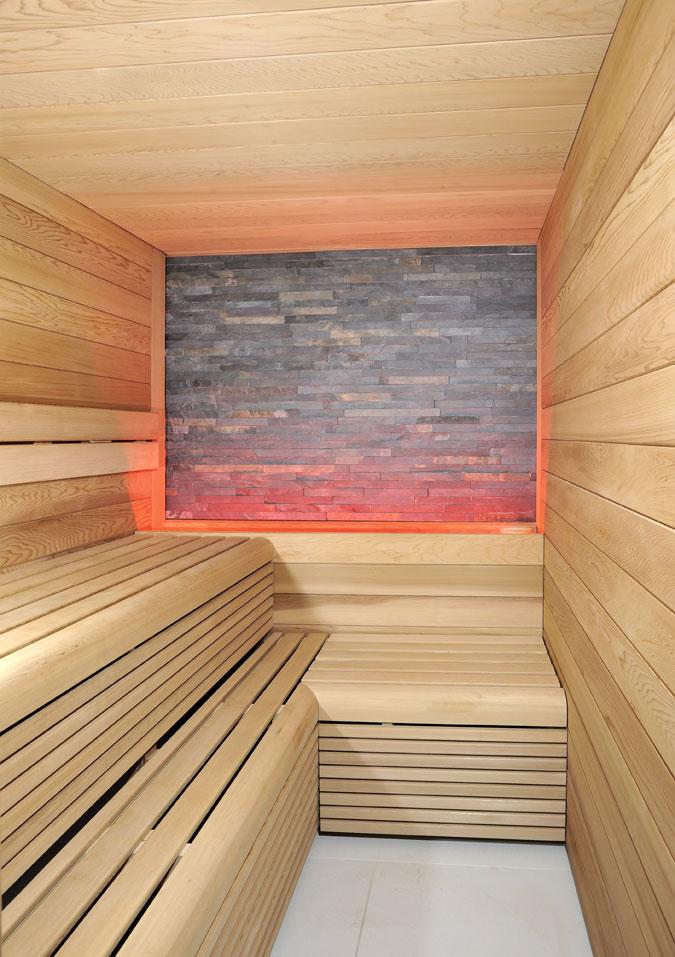 Finská sauna v luxusním provedení