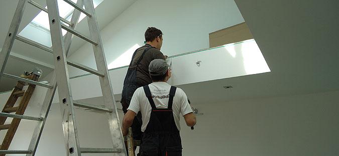 Montáž schodiště - vyměření