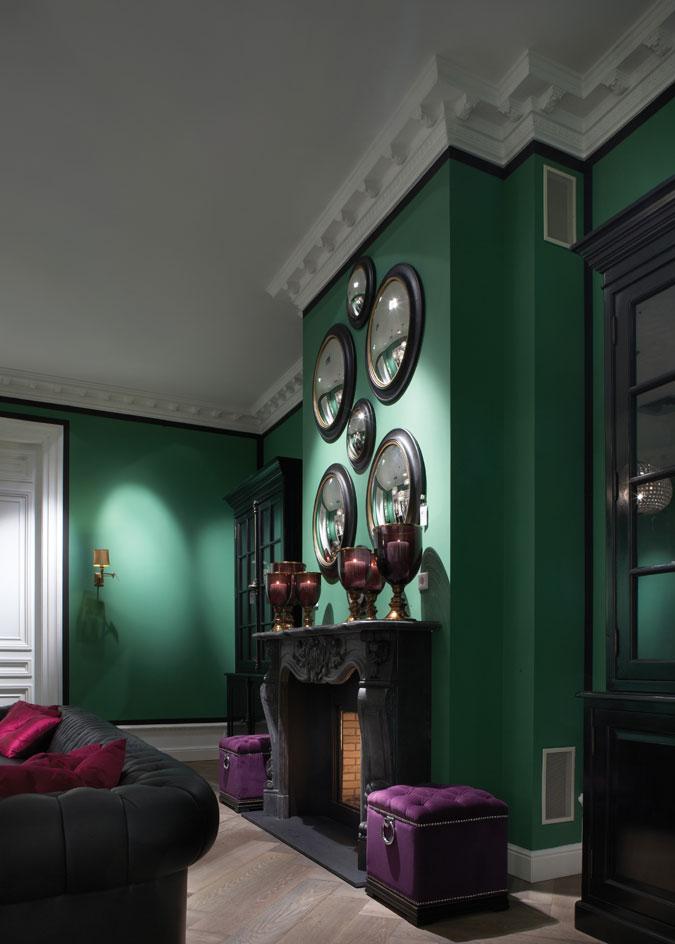 Stylový domov a punc originality s výraznými barvami.