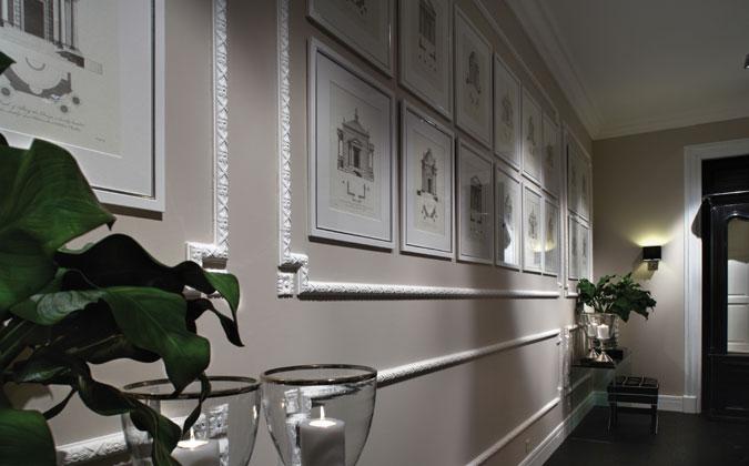 Noblesní vzhled interiéru a styl s využitím interiérových lišt.