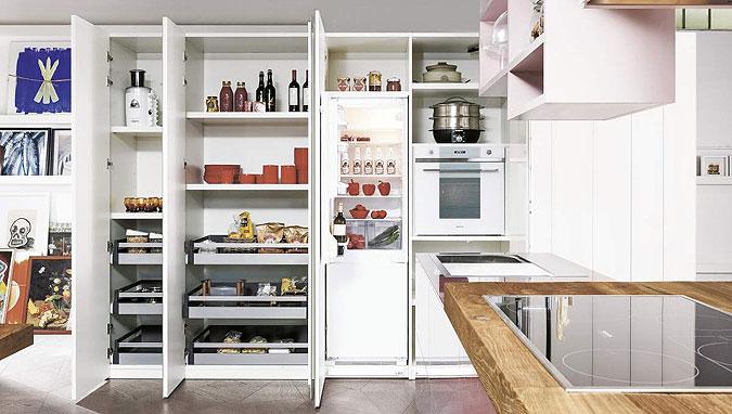 Kuchyně - uspořádání pracovního prostoru.