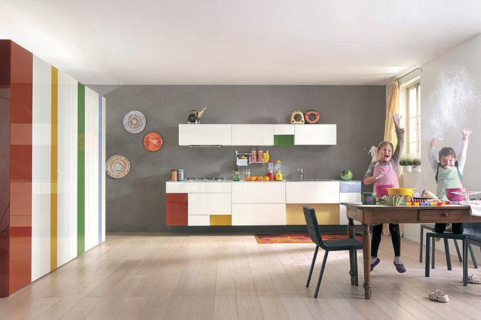 Kuchyň jako dětský pokojíček