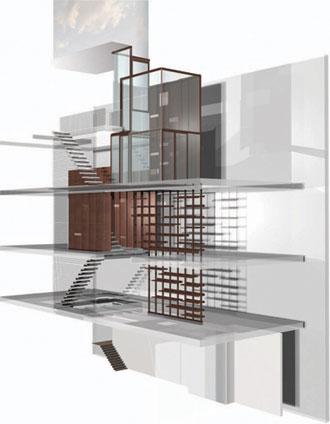 Architektonický návrh tohoto výjimečného prostoru.
