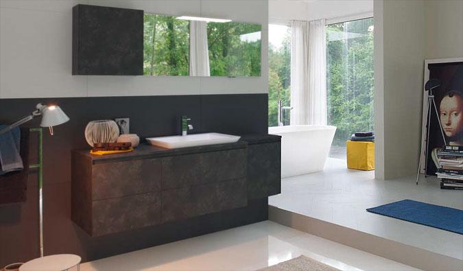 Moderní koupelny jsou definovány jako koupelny v industriálním, nebo minimalistickém sylu.