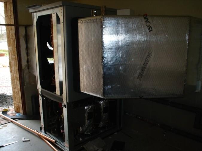 Umístění tepelného čerpadla uvnitř domu vskutku není prostorově náročné