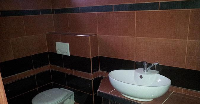 V interiérech jsme realizovali celou řadu koupelen.