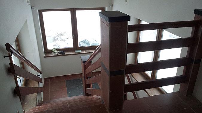 Interiéry jsou uzpůsobeny provozu horského hotelu.