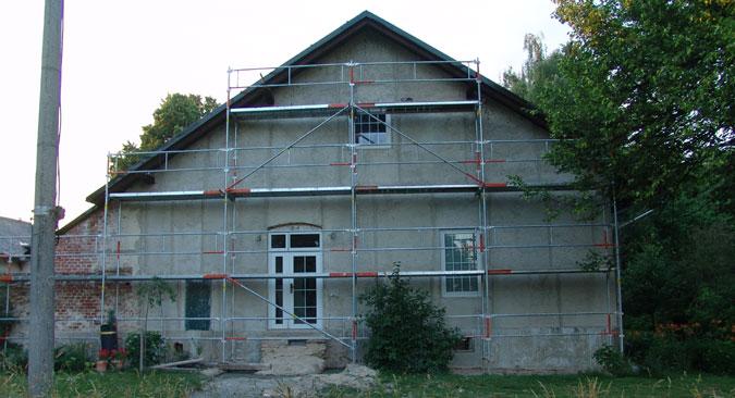 Rekonstrukce starého domu spočívala i ve zhotovení nové fasády.