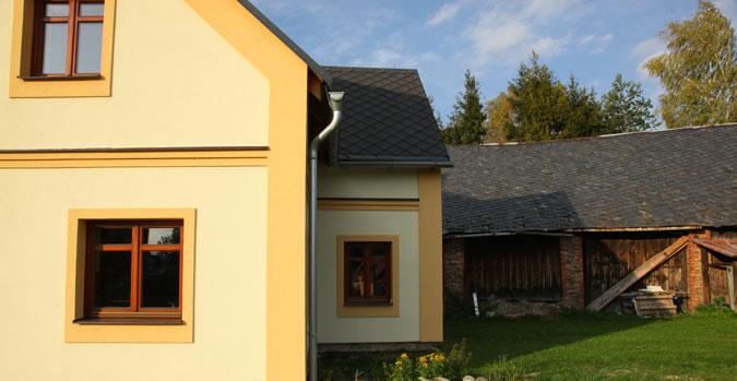 Rekonstrukce domu - termofasáda.