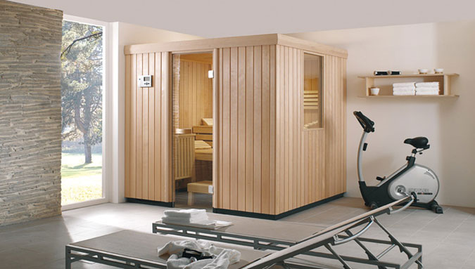 Sauna řady SX od Vellroy & Boch