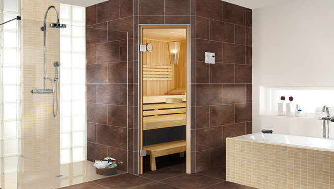 Obložená sauna řady SA, Vellroy & Boch