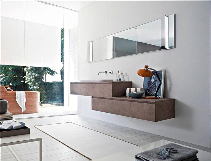 Moderní koupelny - zařizovací předměty se doplňují ve vzájemné harmonii.